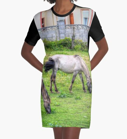 Feeding in hdr Graphic T-Shirt Dress