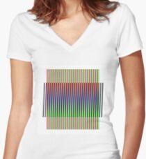 Addition-Chromatique Nro. 1 - OptArt Women's Fitted V-Neck T-Shirt