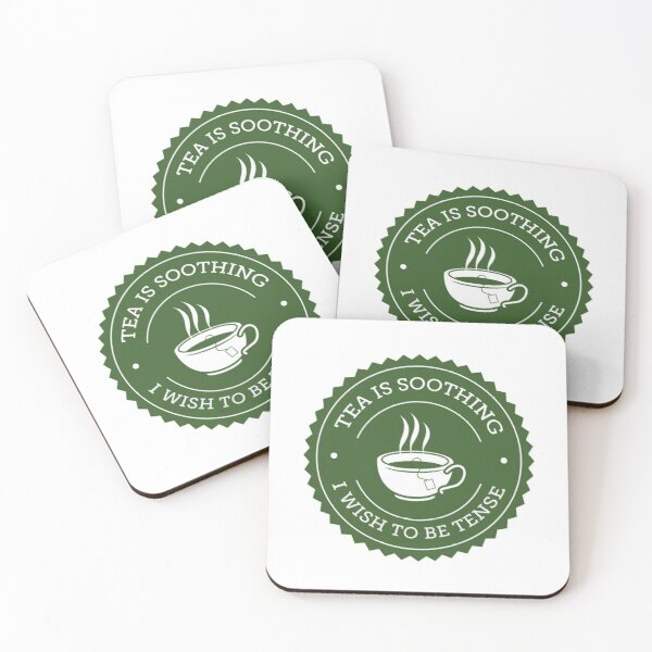 Tea Quote Coasters (Set of 4)