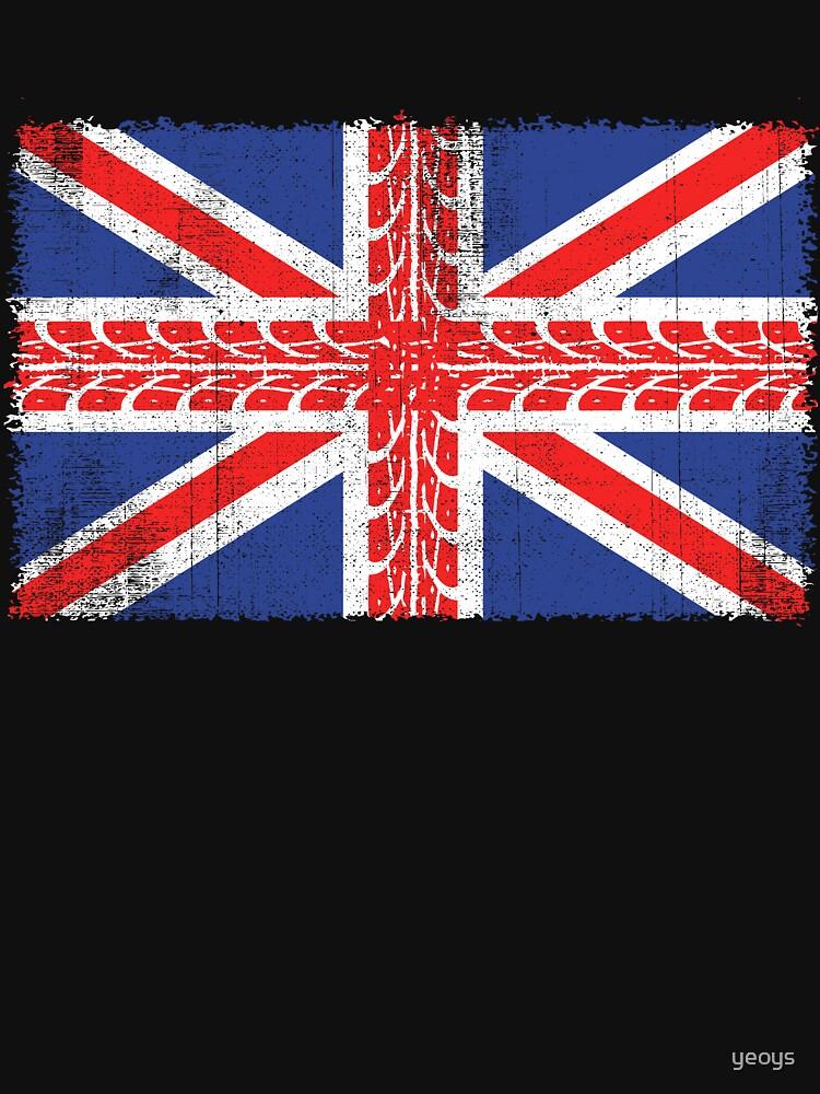 Vintage Flag > UK Flag Made of Motorbike Tracks > Biker by yeoys