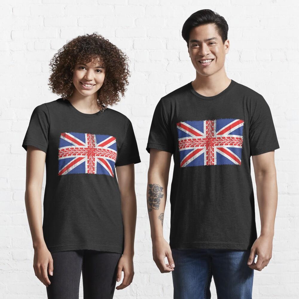Vintage Flag > UK Flag Made of Motorbike Tracks > Biker Essential T-Shirt