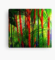 Lipstick Palms (triptych) Canvas Print