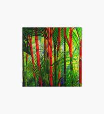 Lipstick Palms (triptych) Art Board