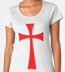 Long Cross - Knights Templar - Holy Grail - The Crusades Women's Premium T-Shirt