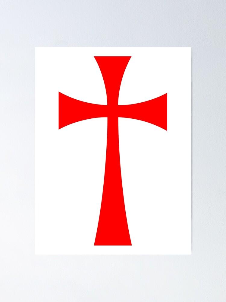 TEMPLAR KNIGHTS CROSS DECAL STICKER holy crusade crusader knights templar symbol