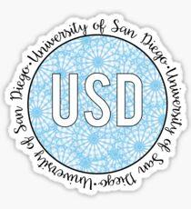 University of San Diego Blue Sticker