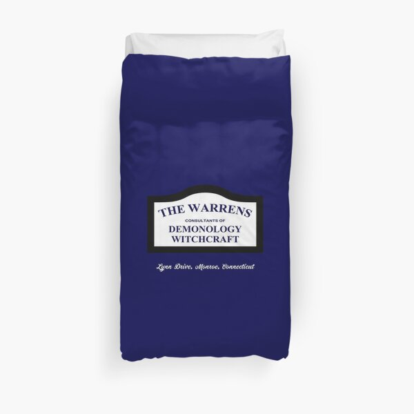 The Conjuring - The Warrens Sign Duvet Cover