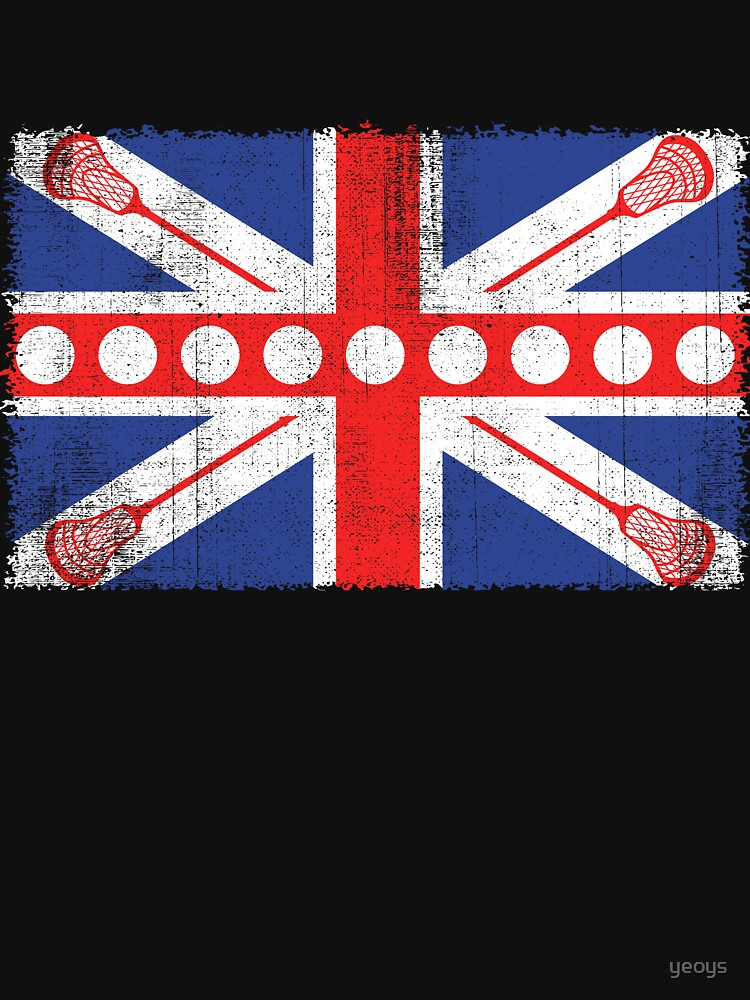 Vintage Flag > UK Flag Made of Lacrosse Balls + Bats > Laxing by yeoys