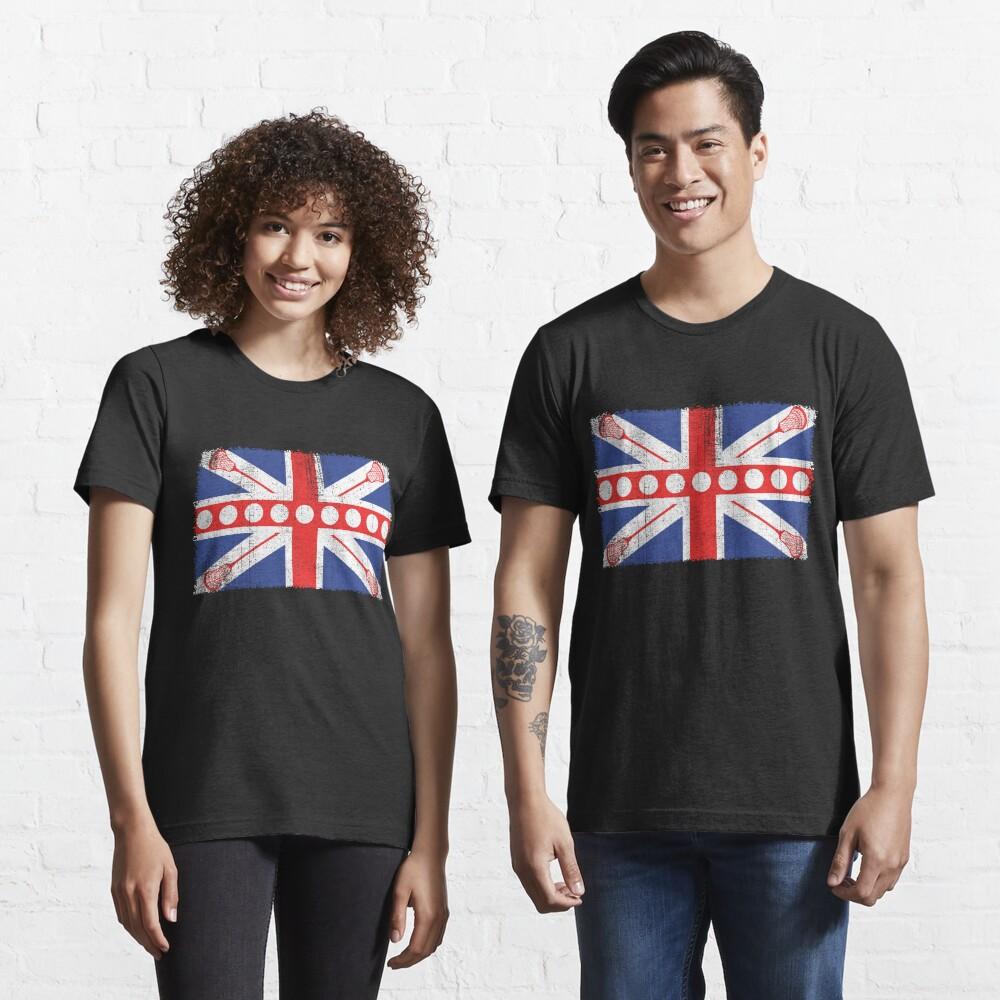 Vintage Flag > UK Flag Made of Lacrosse Balls + Bats > Laxing Essential T-Shirt
