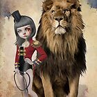 Lowbrow Lion Art  - Love Hate Relationship by Tanya  Mayers