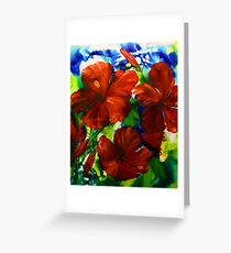 Hibiscus Show Greeting Card