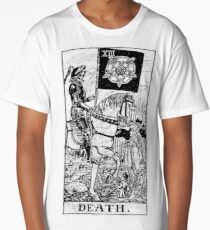 Death Tarot Card - Major Arcana - fortune telling - occult Long T-Shirt