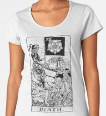 Death Tarot Card - Major Arcana - fortune telling - occult Women's Premium T-Shirt