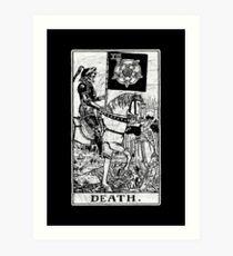 Death Tarot Card - Major Arcana - fortune telling - occult Art Print
