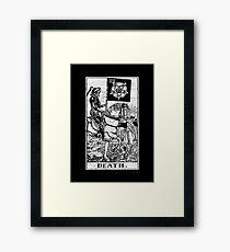 Death Tarot Card - Major Arcana - fortune telling - occult Framed Print