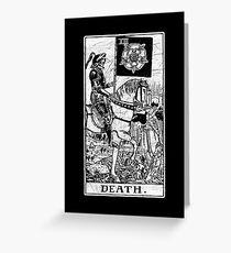 Death Tarot Card - Major Arcana - fortune telling - occult Greeting Card