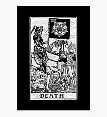 Death Tarot Card - Major Arcana - fortune telling - occult Photographic Print