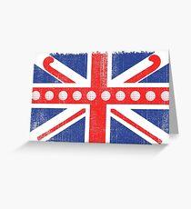 Vintage Flag > UK Flag Made of Hockey Balls + Sticks > Fieldhockey Greeting Card
