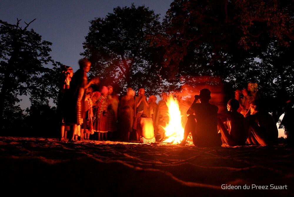 bushmen elephant dance by Gideon du Preez Swart