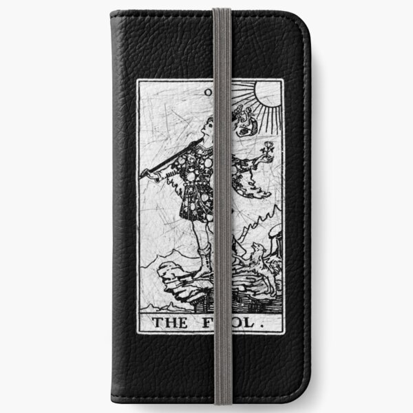 The Fool Tarot Card - Major Arcana - fortune telling - occult iPhone Wallet