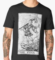 The Fool Tarot Card - Major Arcana - fortune telling - occult Men's Premium T-Shirt