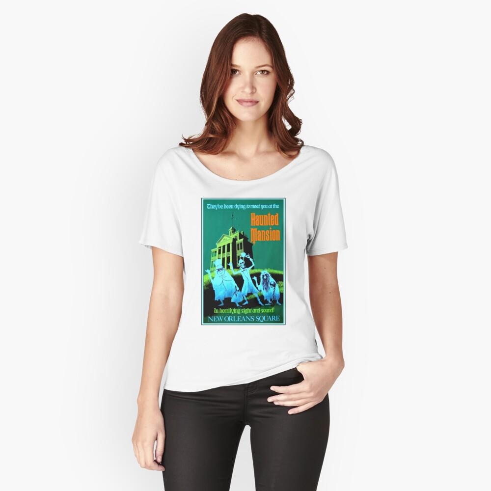 NEW ORLEANS: Vintage Haunted Mansion Werbung Drucken Loose Fit T-Shirt