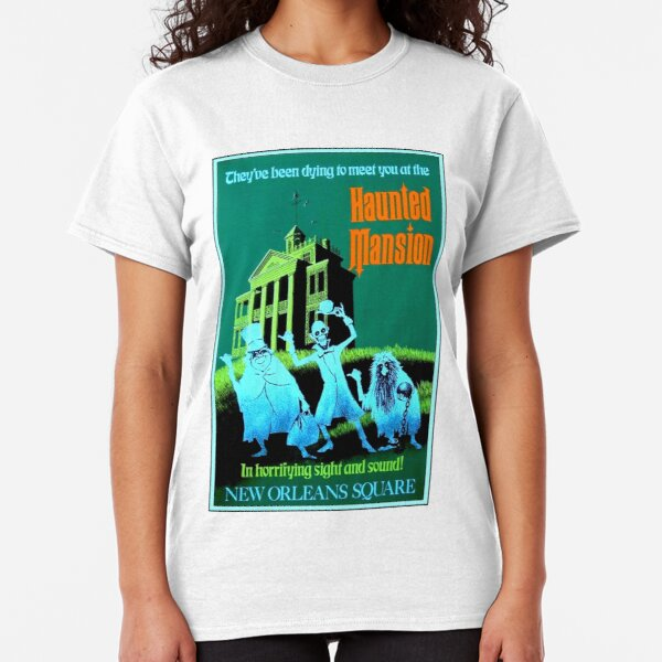 NEW ORLEANS : Vintage Haunted Mansion Advertising Print Classic T-Shirt