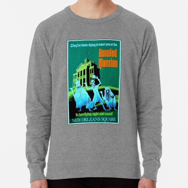 NEW ORLEANS : Vintage Haunted Mansion Advertising Print Lightweight Sweatshirt
