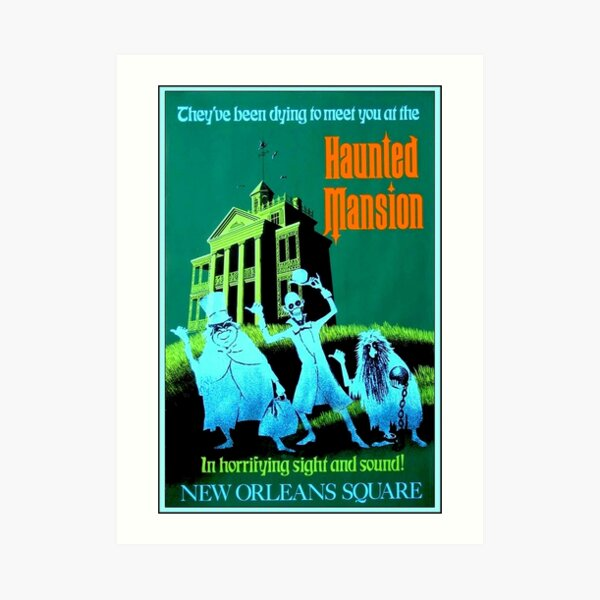 NEW ORLEANS : Vintage Haunted Mansion Advertising Print Art Print