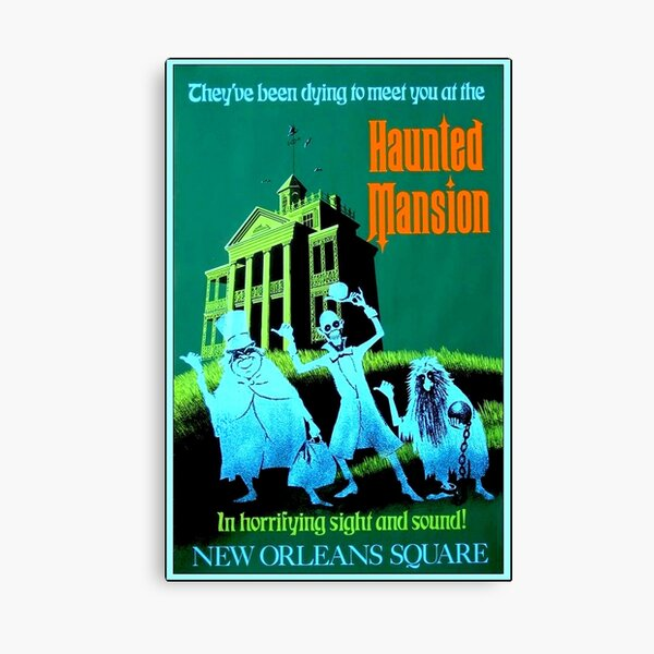 NEW ORLEANS : Vintage Haunted Mansion Advertising Print Canvas Print