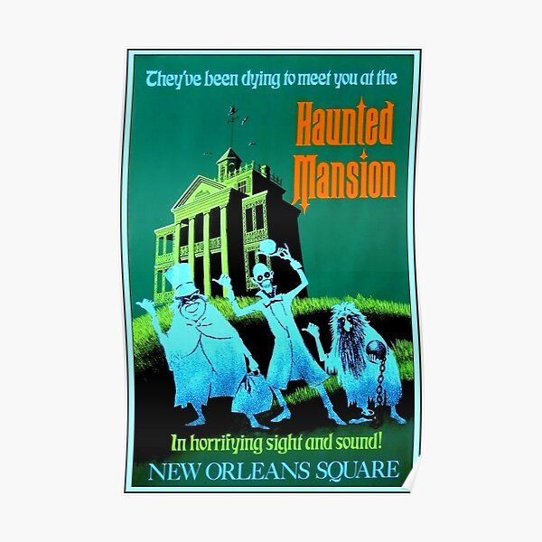 NEW ORLEANS : Vintage Haunted Mansion Advertising Print Poster