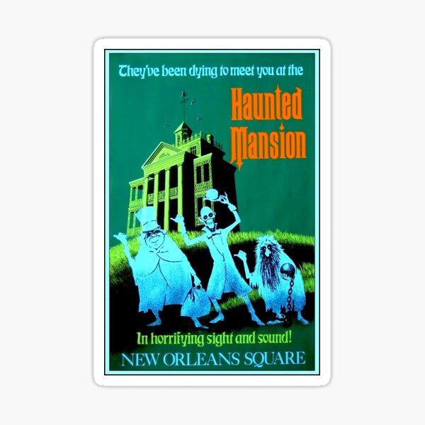 NEW ORLEANS : Vintage Haunted Mansion Advertising Print Sticker