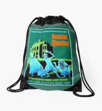 NEW ORLEANS : Vintage Haunted Mansion Advertising Print Drawstring Bag