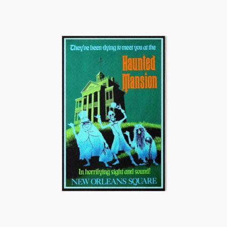 NEW ORLEANS : Vintage Haunted Mansion Advertising Print Art Board Print