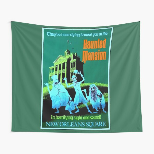 NEW ORLEANS : Vintage Haunted Mansion Advertising Print Tapestry