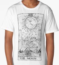 The Moon Tarot Card - Major Arcana - fortune telling - occult Long T-Shirt