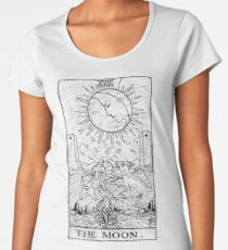 The Moon Tarot Card - Major Arcana - fortune telling - occult Women's Premium T-Shirt