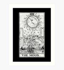 The Moon Tarot Card - Major Arcana - fortune telling - occult Art Print