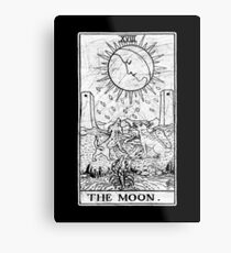 The Moon Tarot Card - Major Arcana - fortune telling - occult Metal Print