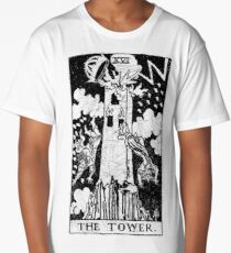 The Tower Tarot Card - Major Arcana - fortune telling - occult Long T-Shirt