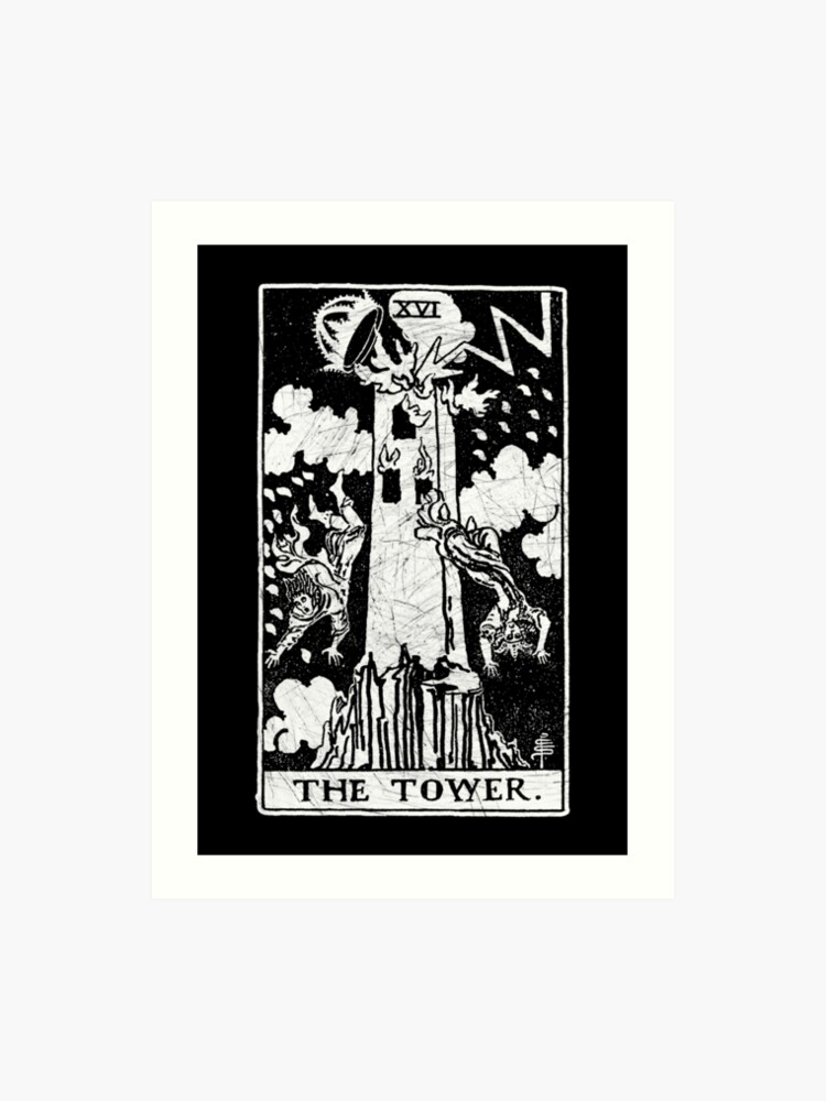 The Tower Tarot Card - Major Arcana - fortune telling - occult | Art Print