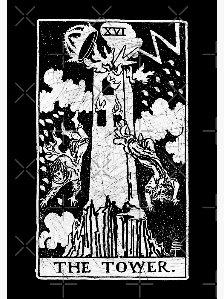 The Tower Tarot Card - Major Arcana - fortune telling - occult |  Photographic Print