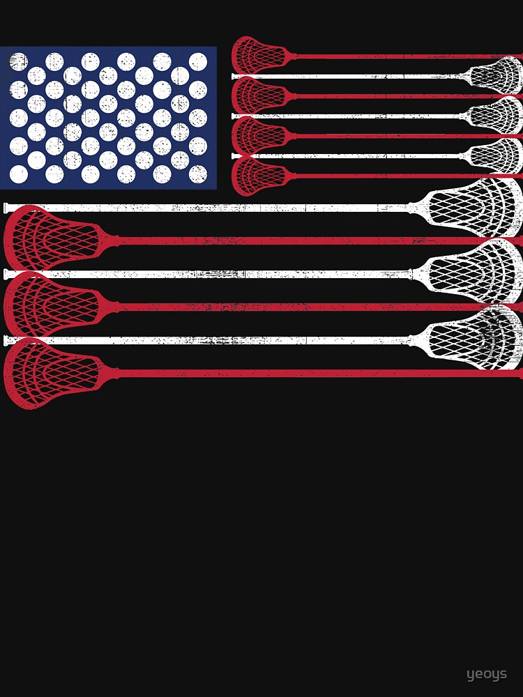 Vintage Flag > US Flag Made of Lacrosse Balls + Bats > Laxing by yeoys