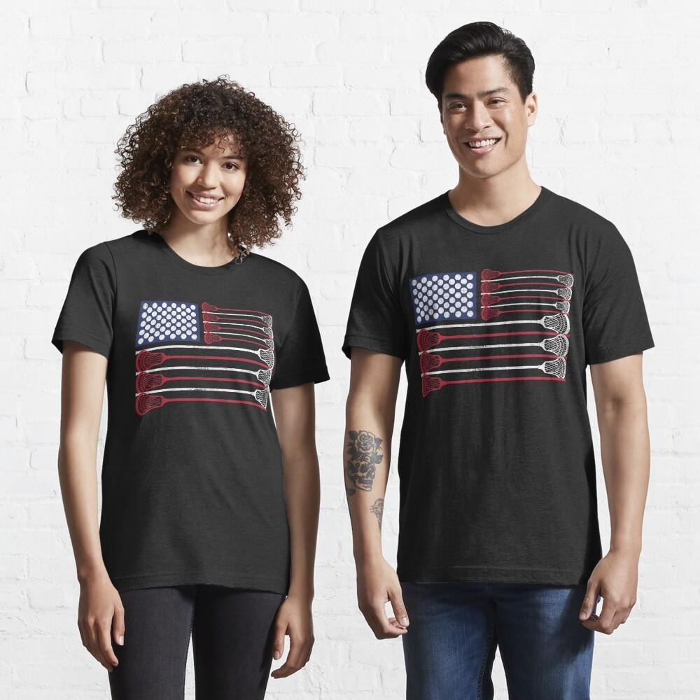 Vintage Flag > US Flag Made of Lacrosse Balls + Bats > Laxing Essential T-Shirt
