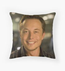 Elon Musk Throw Pillow