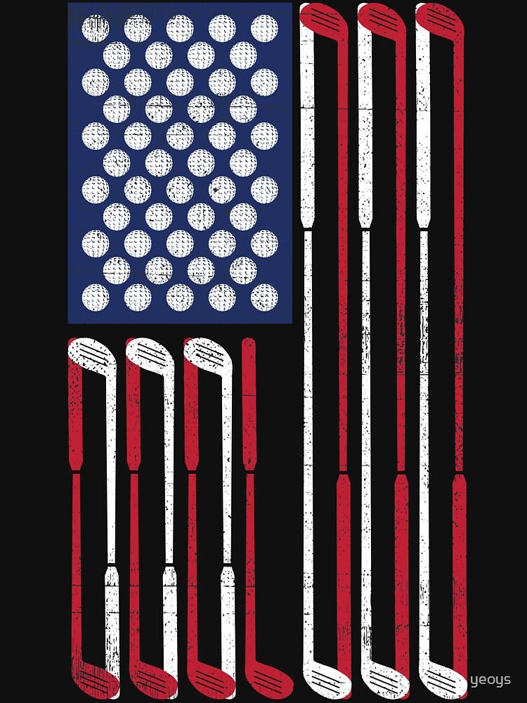Vintage Flag > US Flag Made of Golf Balls + Clubs > Cool Golf von yeoys
