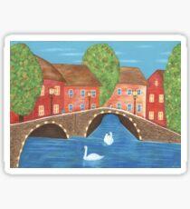 The Cozy Village Sticker