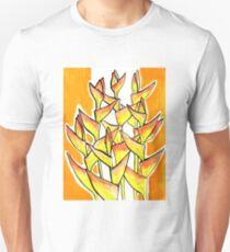 Heliconia / Lobster Claw, tropical flowers, floral art T-Shirt