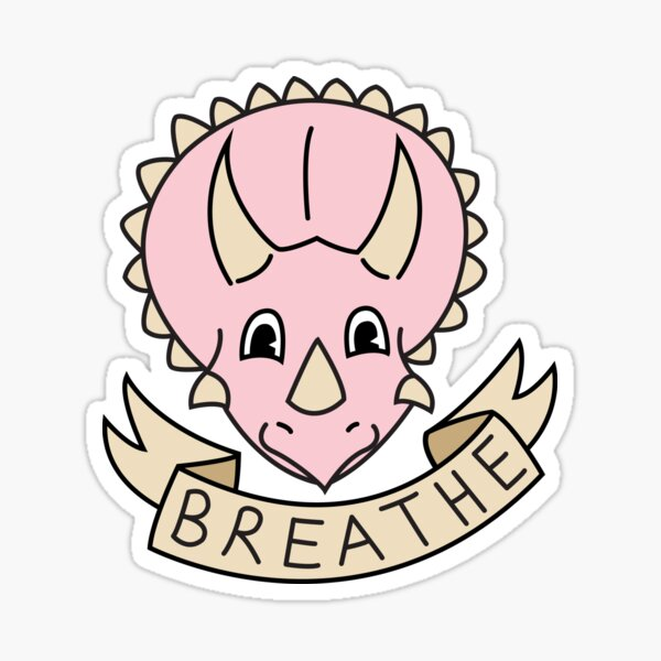 breathe [more pink] (custom colours available) Sticker