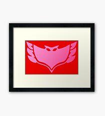 Pj masks Owlette symbol Framed Print